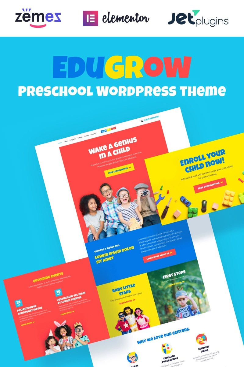 Edugrow - Preschool WordPress Theme with a Vivid Design WordPress Theme