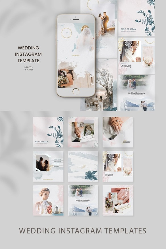 Gorgeous Wedding Instagram Templates