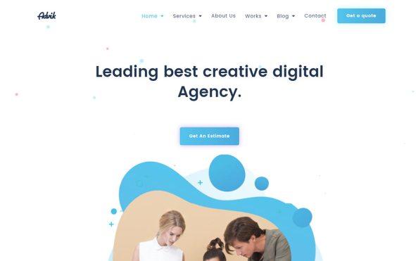 Creative Digital Agency Landing Page Template