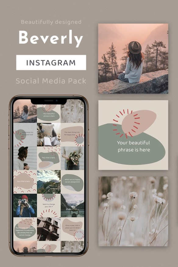 Beverly Instagram Template Social Media