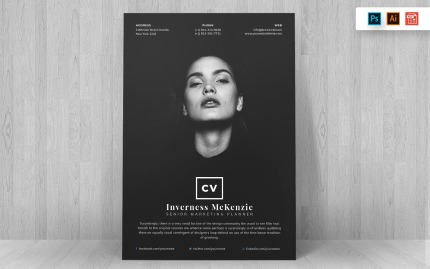 Black and White Creative and Modern Resume Template