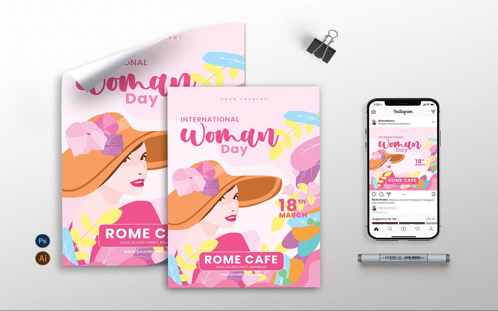 International Womens Day vol.01 - Flyer, Poster & Instagram Template