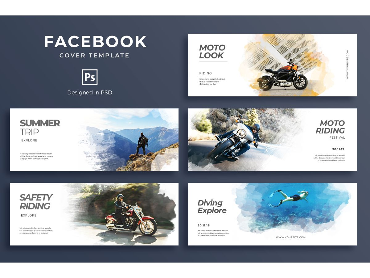 Facebook Template Trip Social Media