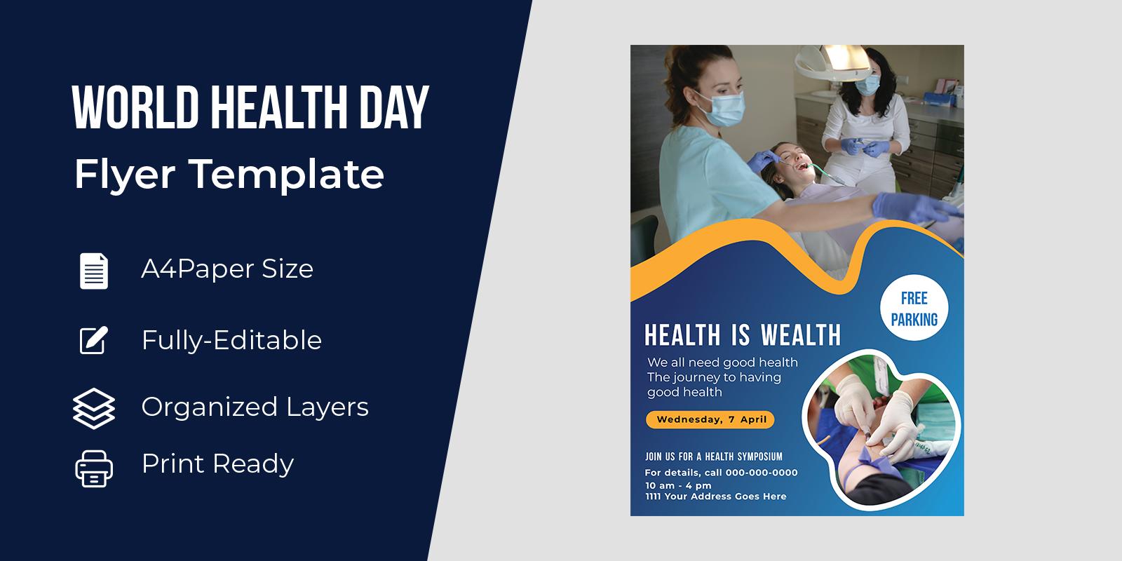 World Health Day Awareness Flyer Design