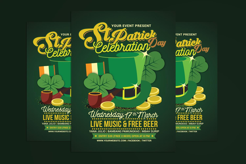 St Patrick's Day Celebration Flyer Template