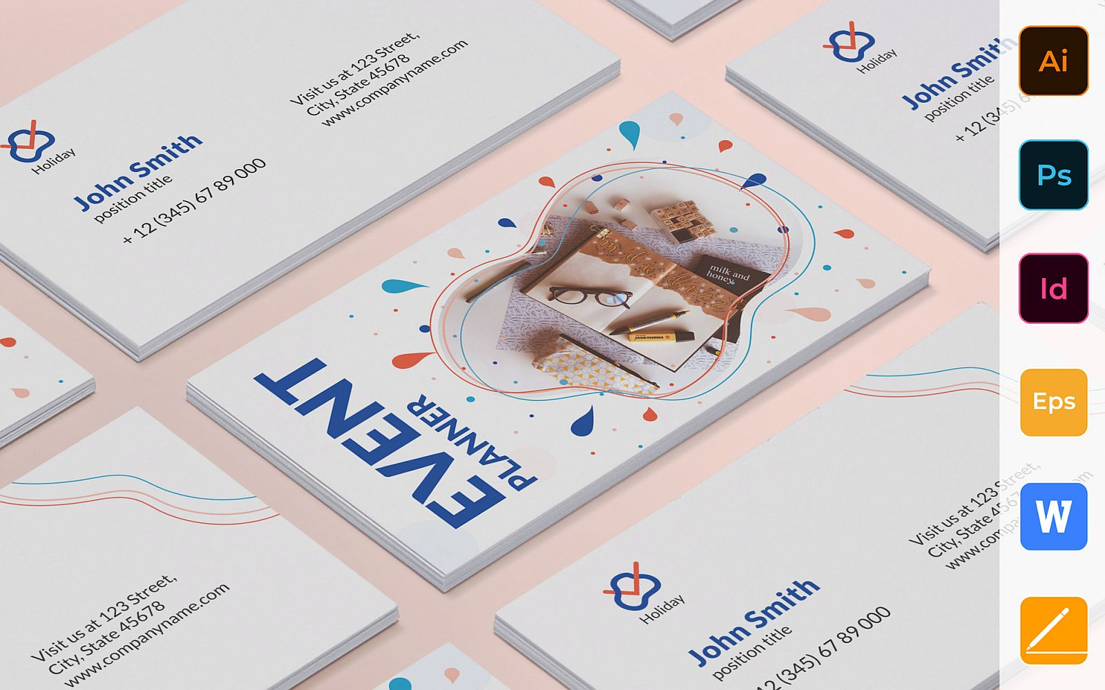 Professional Event Planner Business Card Template