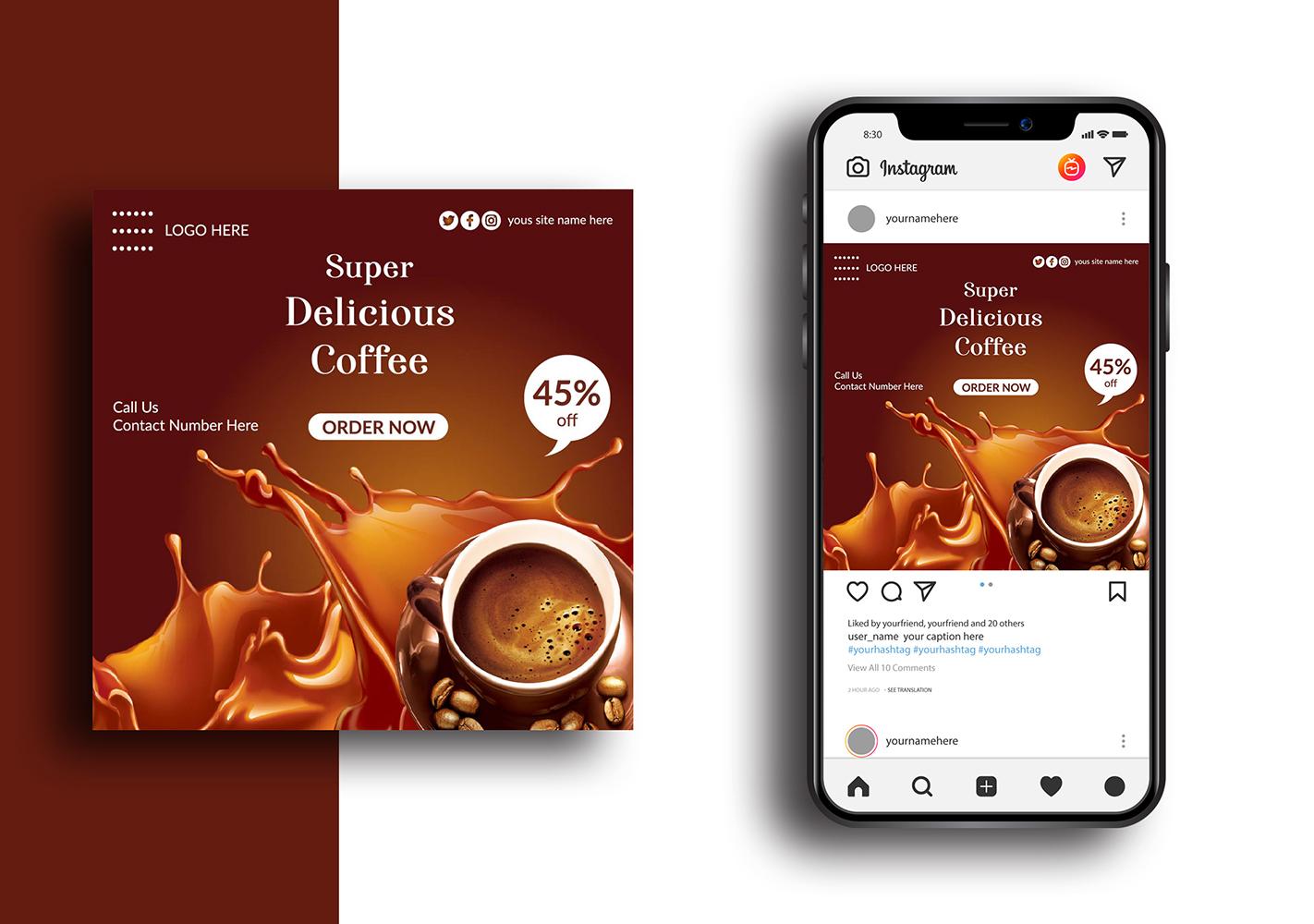 Coffee Social Media Banner