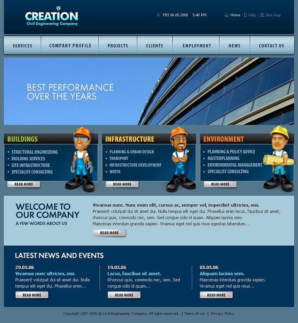 construction company swish template web design templates