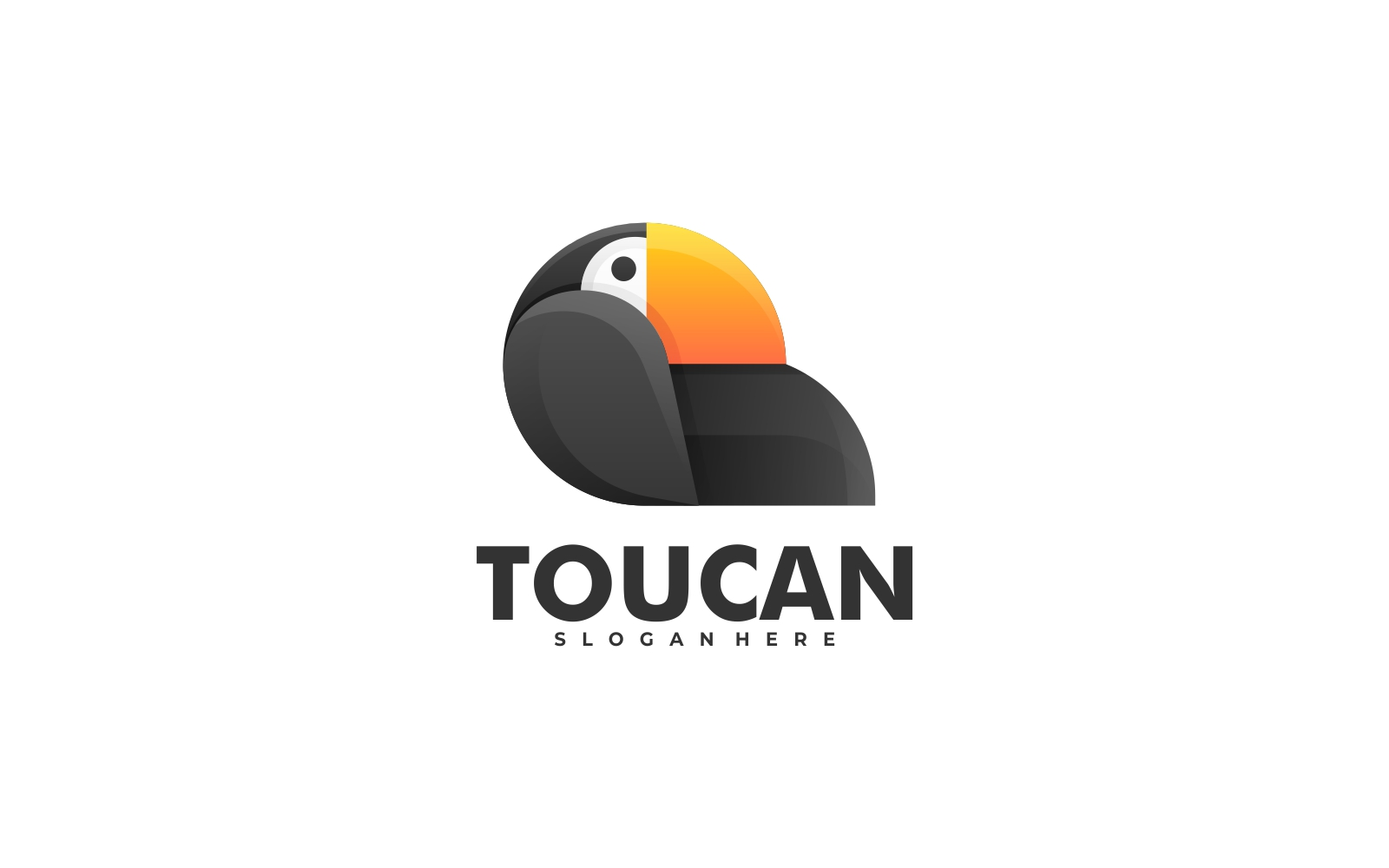 Toucan 3D Gradient Logo Template