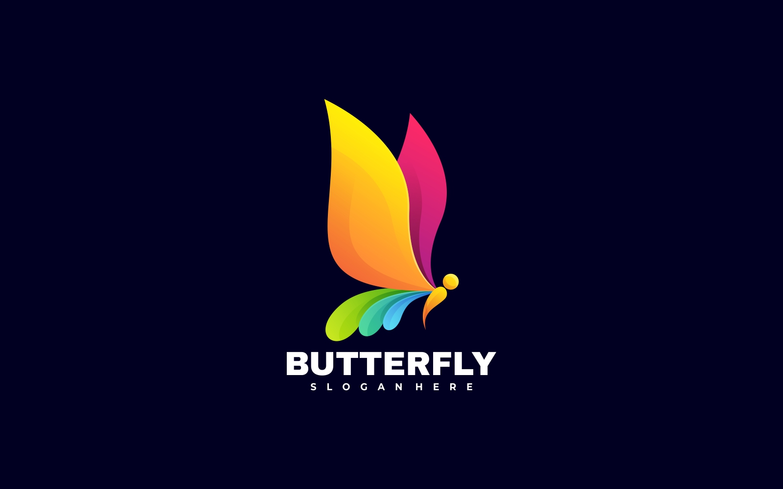 Butterfly 3D Gradient Style Logo