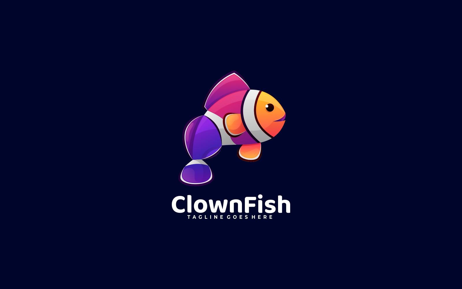 Clown Fish Gradient Colorful Logo
