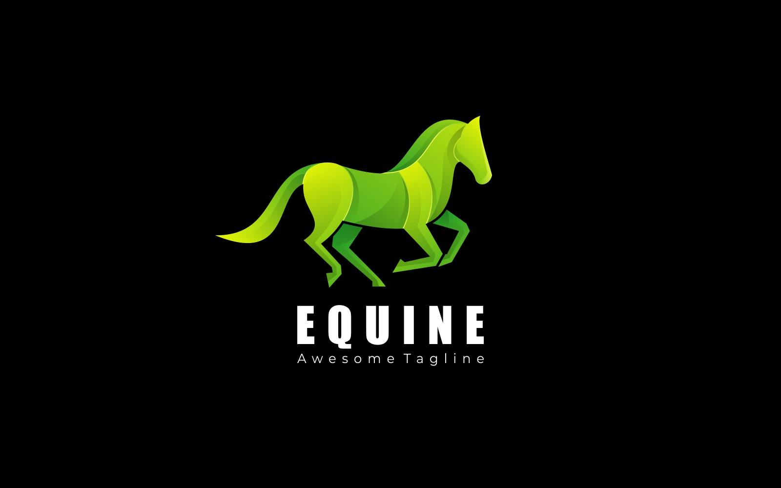 Equine Gradient Logo Style