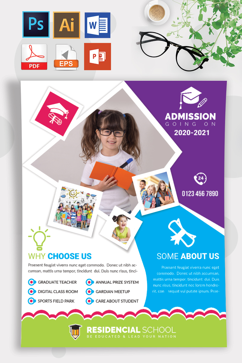 School Admission Flyer Vol-08 Template