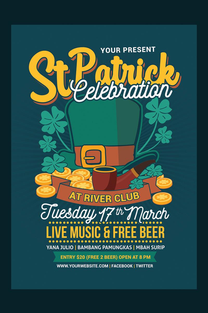 St Patricks Day Celebration Flyer Template