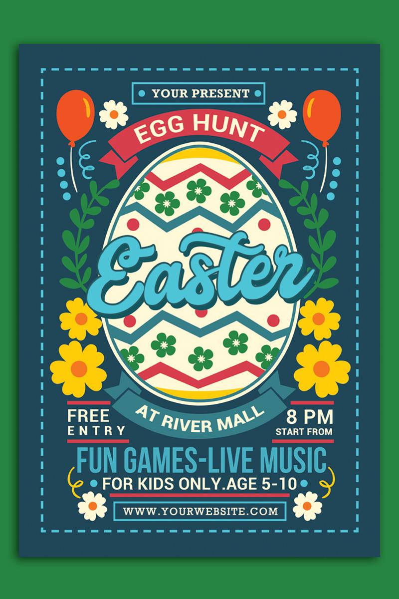 Easter Egg Hunt For Kids - Flyer Template