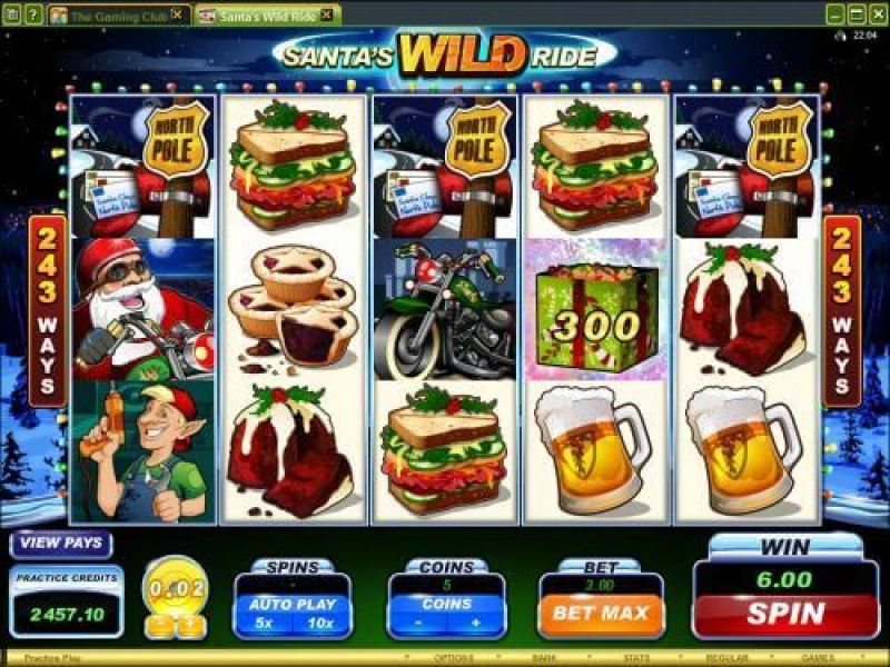 SCR888 Login Casino Santa's Wild Ride Slot Machine!