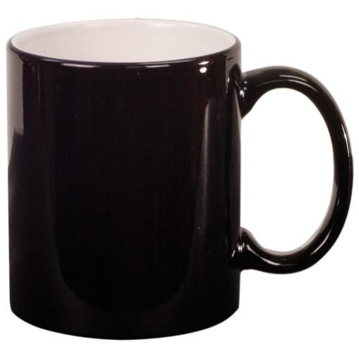 Round Laserable Mug - Black