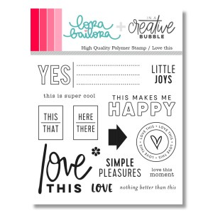 Sello acrílico love this Lora Bailora cardmaking,scrapbook,embossing