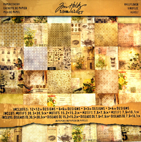 Bloc papel scrap 36 hojas 30x30 Tim Holtz scrapbook,cardmaking