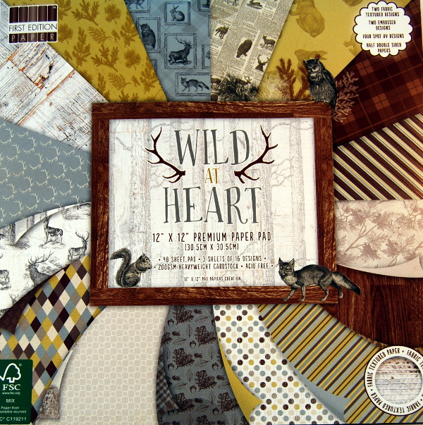 "Stack 48 hojas ""WILD AT HEART"""