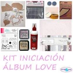 Scrapbooking regalo kit iniciacion papel LOVE OFERTA