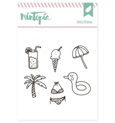 sello scrapbooking verano, sello scrap verano, sello manualidades, sello estampar scrap