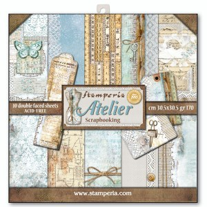 papel scrapbooking stamperia atelier, papel atelier stamperia, papel scrap atelier, papel cardmaking stamperia