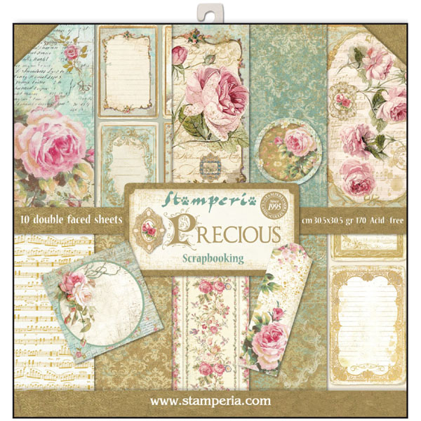 "Stack papel scrap STAMPERIA ""PRECIOUS"""