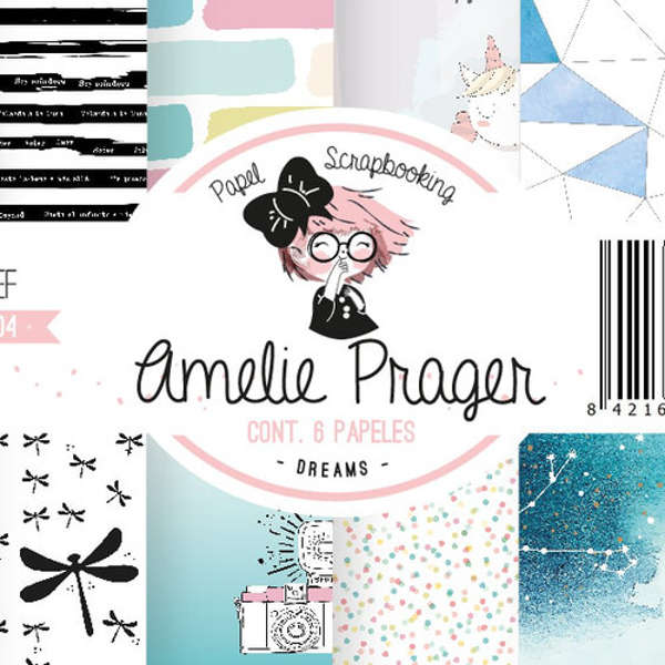 papel scrap dreams, papel scrapbooking amelie dreams,papeltarjeteria amelie dreams