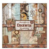 "Stack papel scrap ""Clockwise"" STAMPERIA"