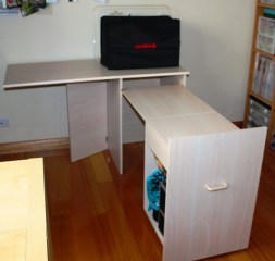 5.2 Sewing Machine Cabinet Open