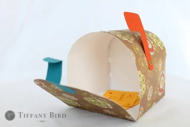 tutorial paper mailbox with pdf template scrap booking