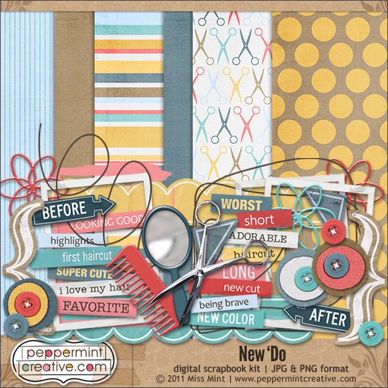 Free Digital Kit New Do From Peppermint Creative Scrap Booking