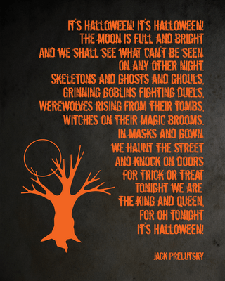 jill at a matter of memories sent along this free printable poster a childrens halloween poem by jack prelutsky