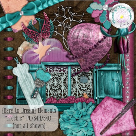 Dare to Dream Free Digital kit from Breath of Rain Scraps