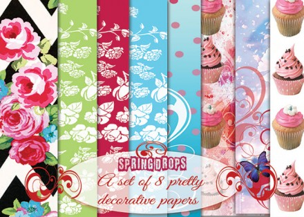 Free dcorative and giftwrap printable papers from Once Upon her Dream
