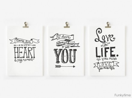 Hand-Drawn-Valentines from funky time