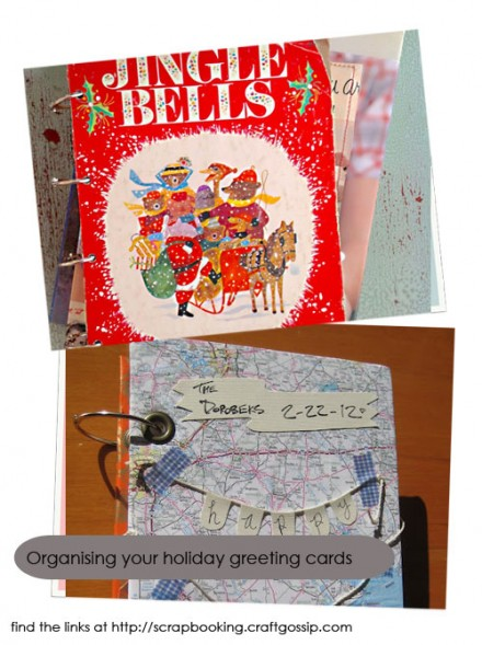 Tutorial organizing greeting cards scrap booking now that the holidays are over youre probably working on packing away all the decorations and wondering what to do with all the cards you received m4hsunfo