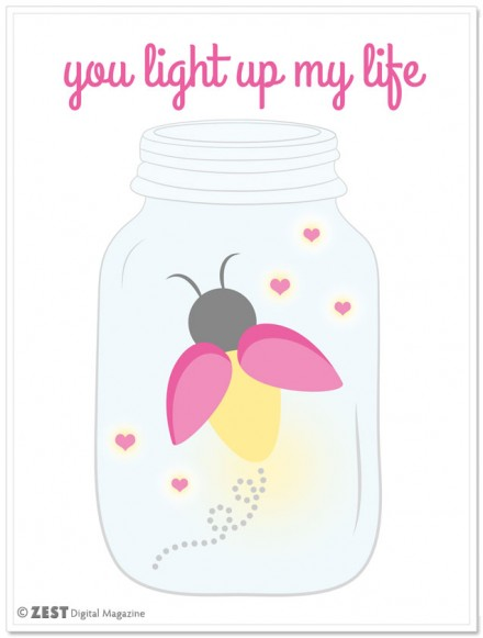 you-light-up-my-life printable mason jar art from Zest