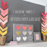 Valentine Mantel + Chevron Tutorial