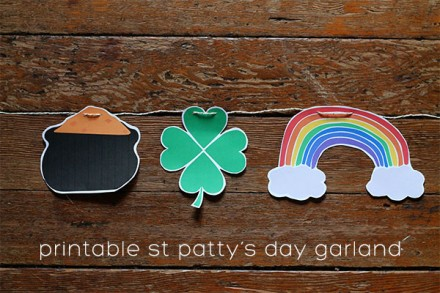printable st.patty's garland from squirrelly minds