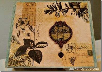 Altered Beach and Floral Cigar Box by The Answer is Chocolate