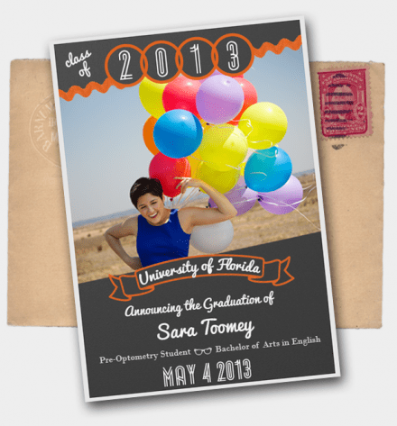 DIY Graduation Announcements in Photoshop by Lilies and Light