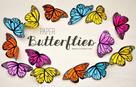 Tutorial - Paper Butterflies by Made With Love Creations