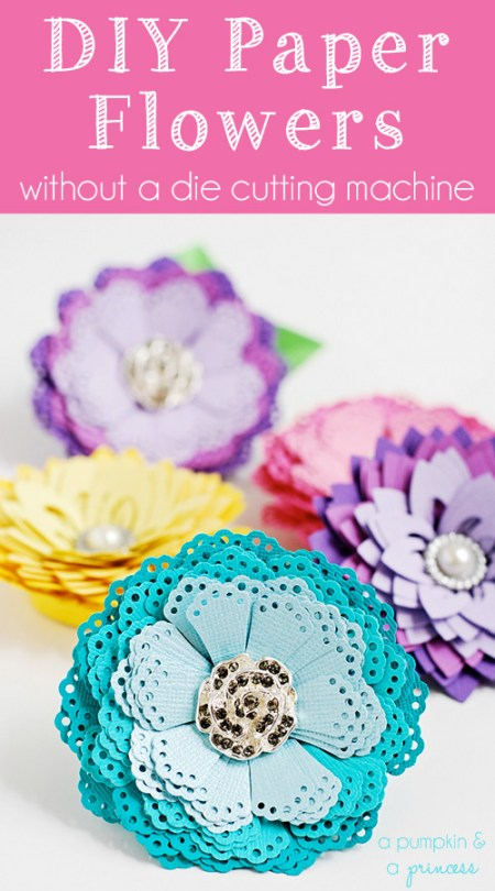 DIY-Paper-Flowers-Tutorial from A Pumpkin and a Princess