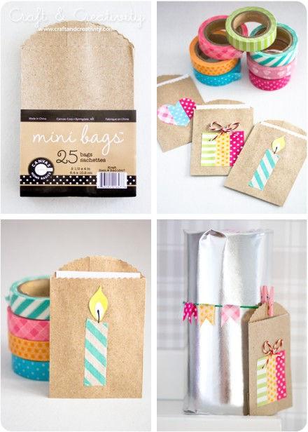 Tutorial - small gift bags from Craft & Creativity