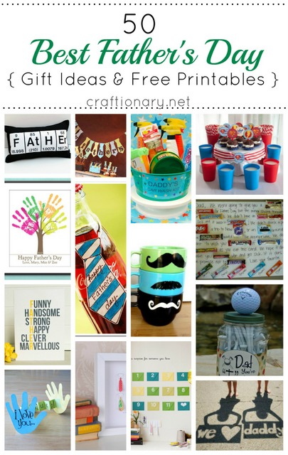50 Fathers Day Gift Ideas and Free Printables from Craftionary