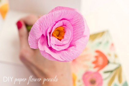 DIY Paper Flower Pencils from The Sweetest occasion