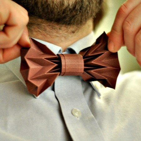 Foldable Bow Tie Gift Topper for Father's Day