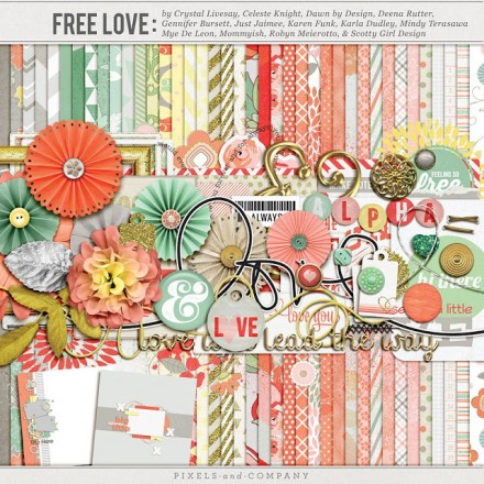 Free Digital Kit from Pixels & Co and Quality Digi Freebies